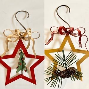9 Metal Christmas Ornament Decorations